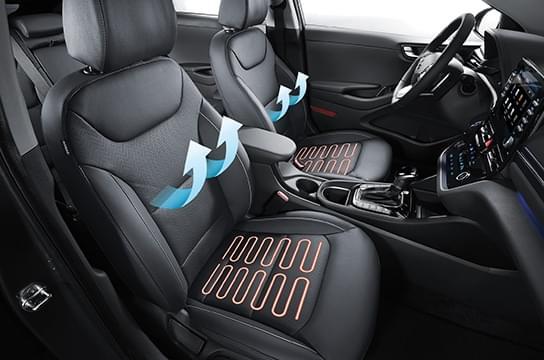 IONIQ hybrid  front ventilated / heated seats